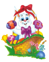 Thumb easter bunny basket clipart