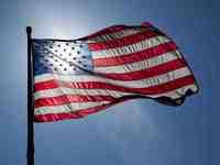 Thumb us flag backlit