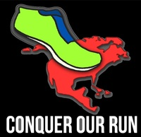Thumb conquer our run black logo